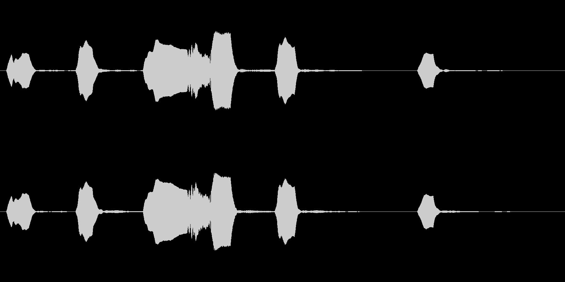 ジングル リコーダー ほのぼの のんびりの未再生の波形
