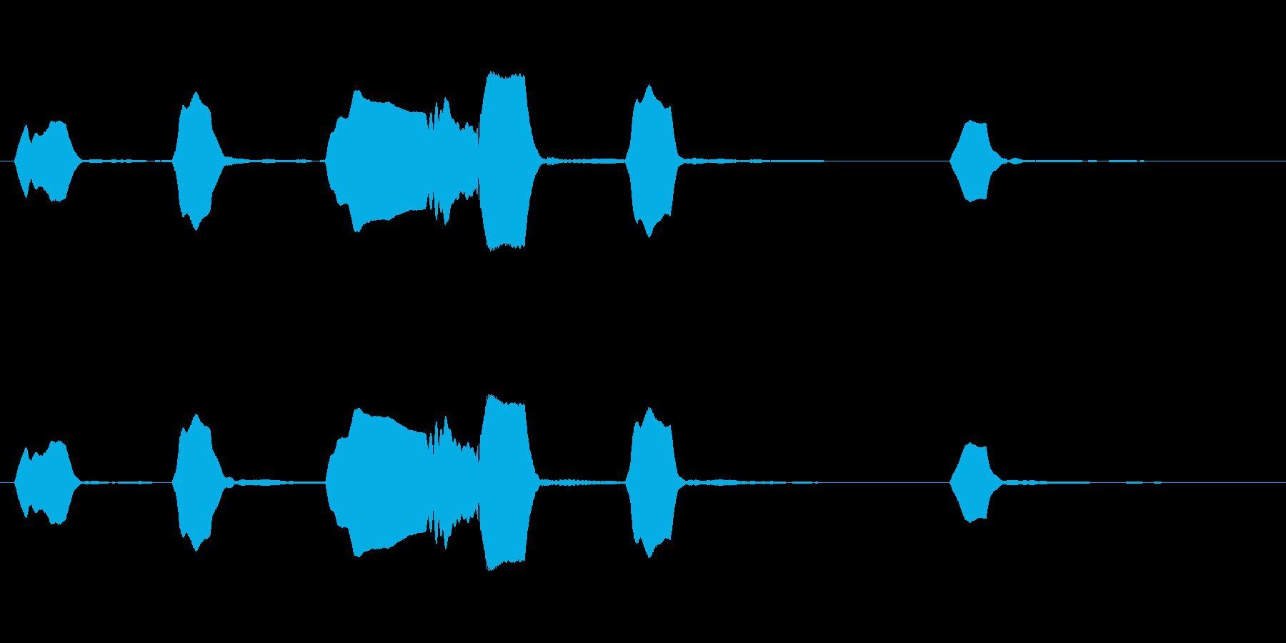 ジングル リコーダー ほのぼの のんびりの再生済みの波形