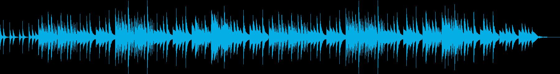 カリンバとギターのほんわかしたワルツの再生済みの波形
