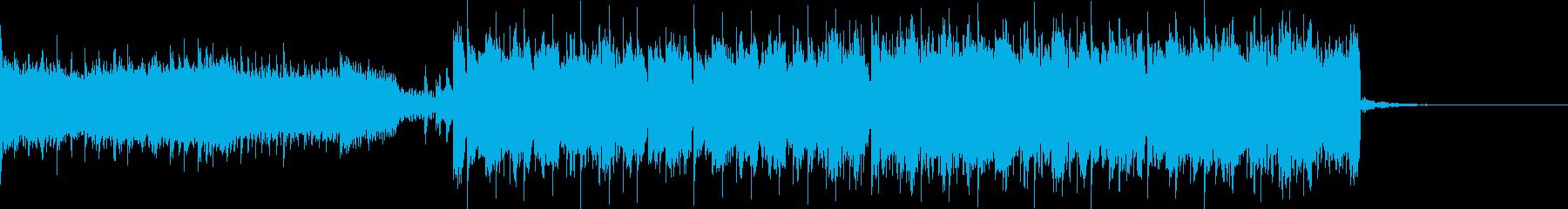 疾走感のあるシンセ主体のEDMの再生済みの波形