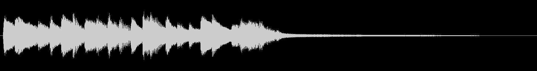 透明感のある優しいピアノジングルの未再生の波形