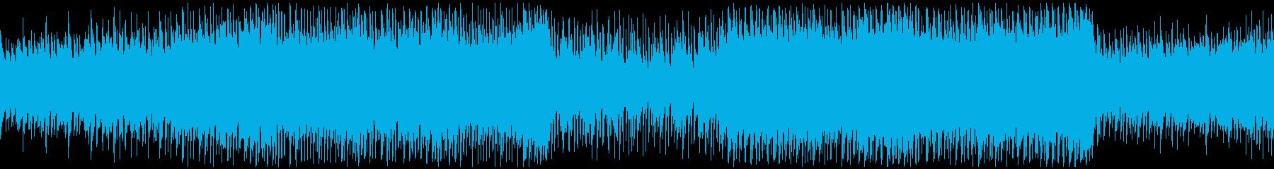 明るいのにほのかに切なさを感じる曲ループの再生済みの波形