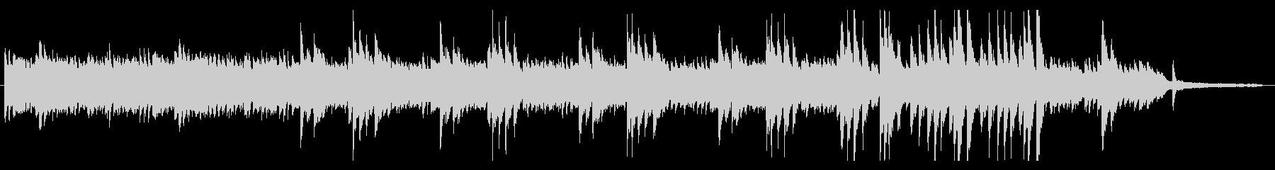 穏やかな曲調のアコースティックBGMの未再生の波形