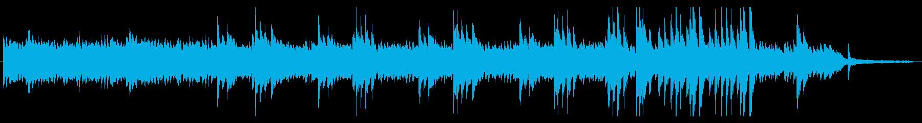 穏やかな曲調のアコースティックBGMの再生済みの波形
