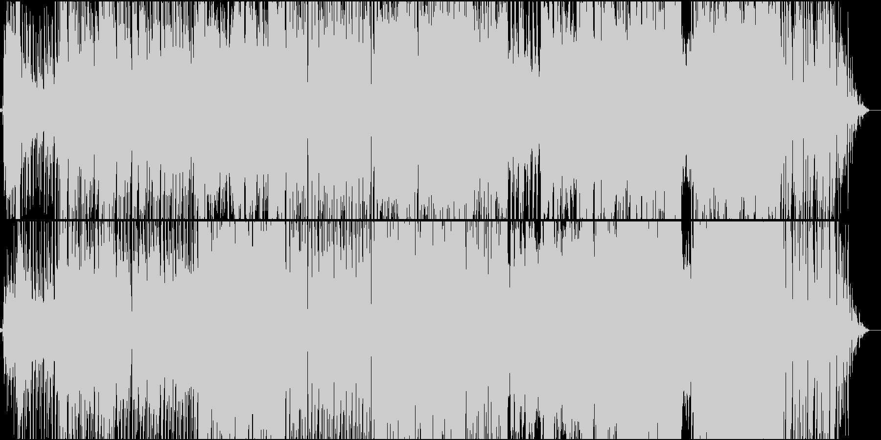伝統的な印象と心地よいグルーヴのBGMの未再生の波形