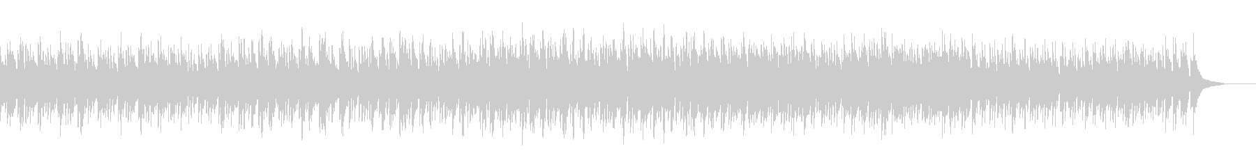 ブルース進行の明るい曲の未再生の波形