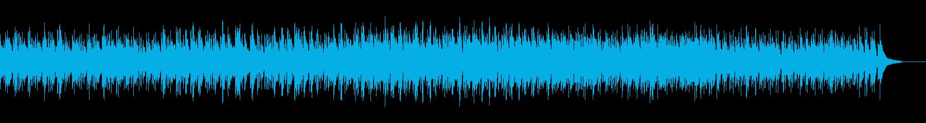 ブルース進行の明るい曲の再生済みの波形