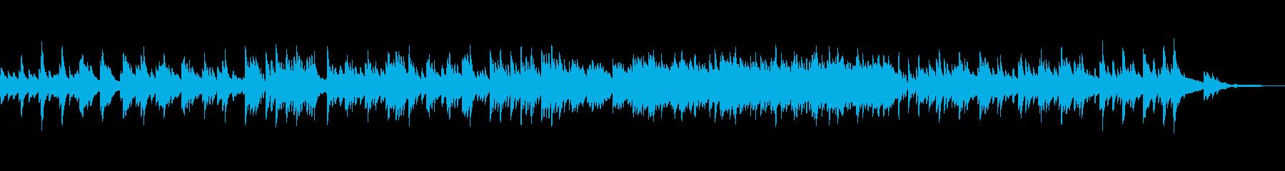 ピアノソロ映像や企業VPに優しく穏やか曲の再生済みの波形