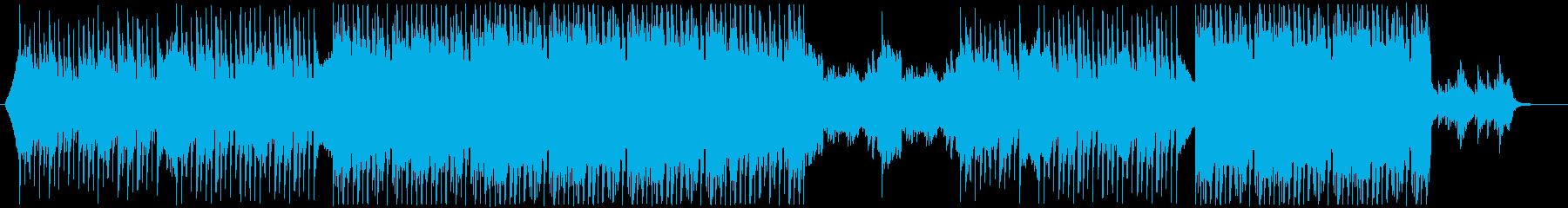爽やかな明るいイメージのBGMの再生済みの波形