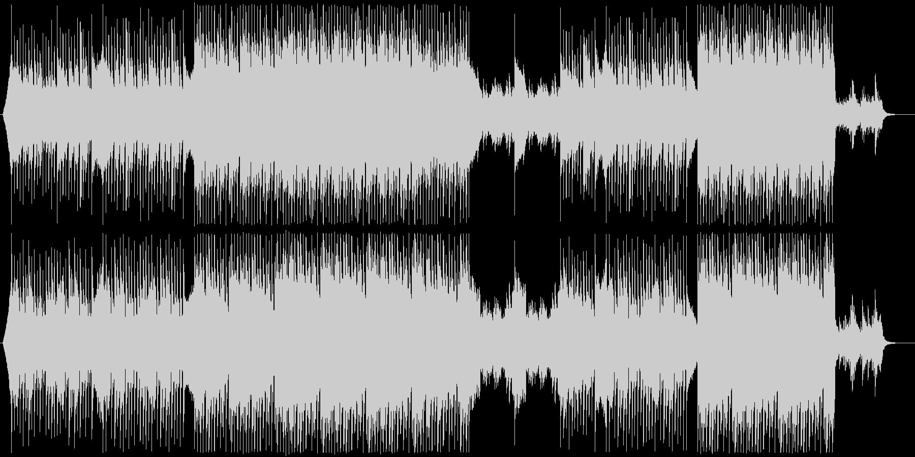 爽やかな明るいイメージのBGMの未再生の波形