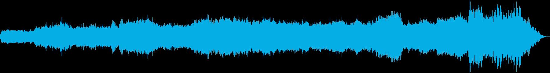 シンセで弾いた虹のイメージの再生済みの波形