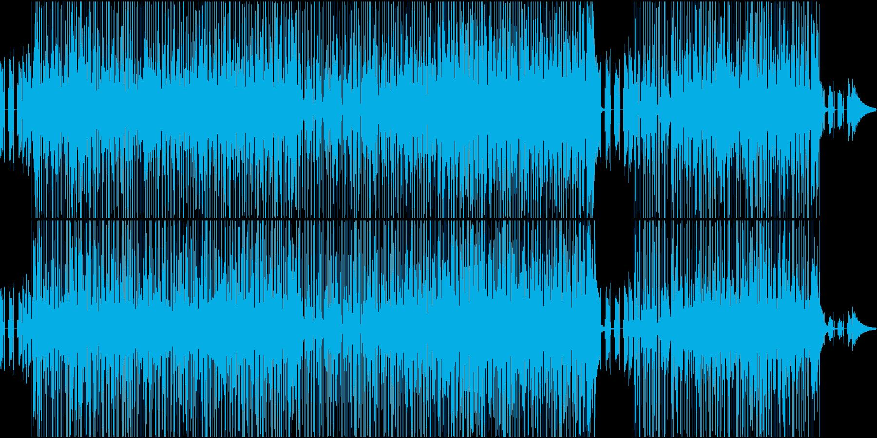 コード感のおしゃれなポップスの再生済みの波形