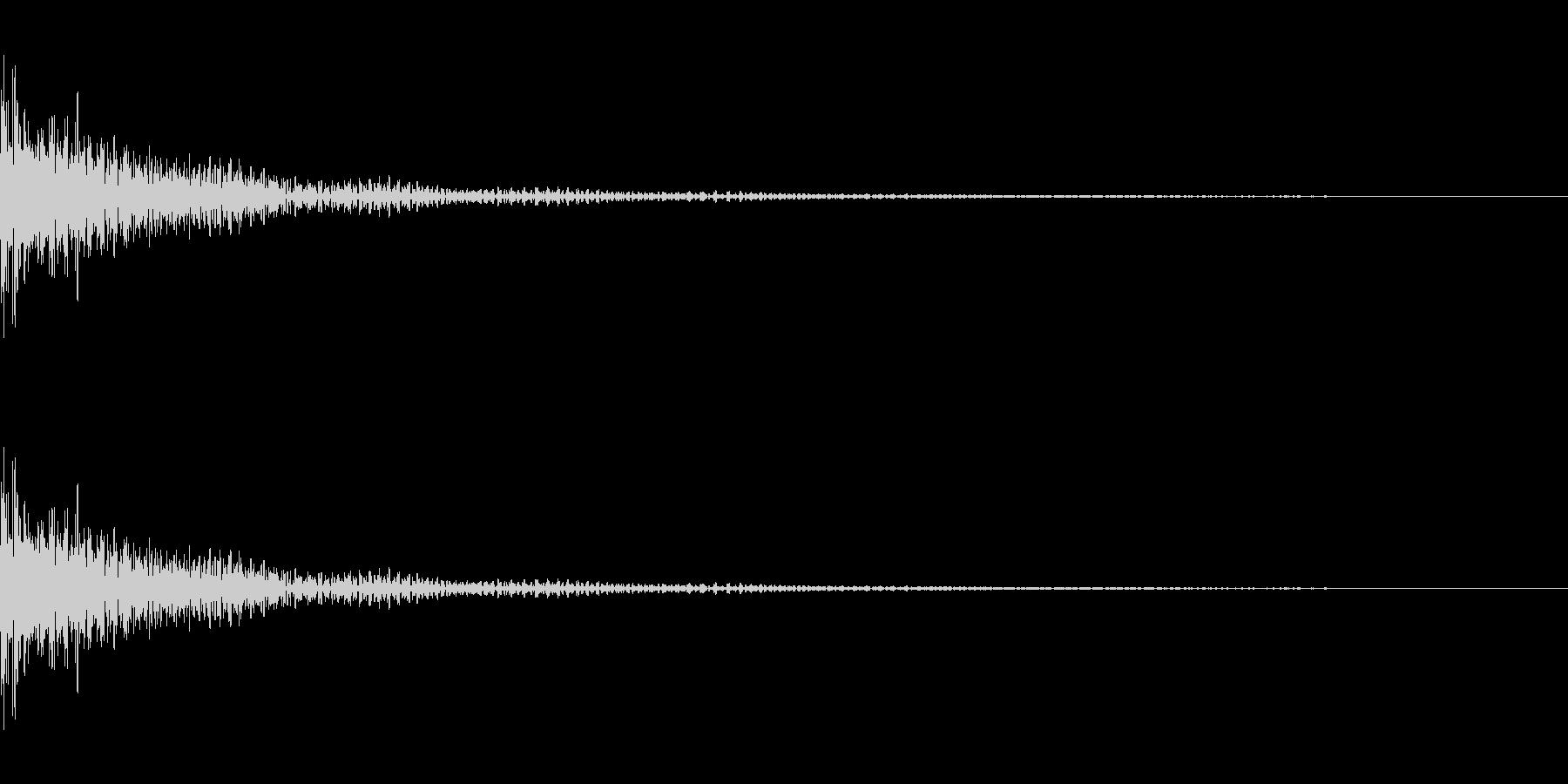 コミカルなティンパニ。「ボヨンボヨン」の未再生の波形
