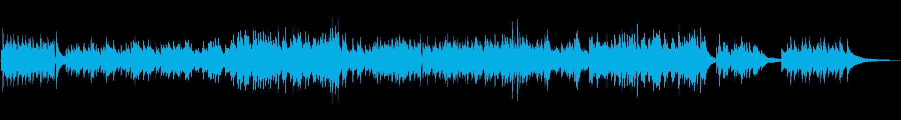明るくおしゃれなソロピアノワルツの再生済みの波形