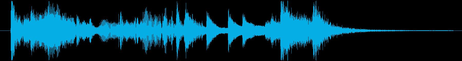 ジャズインスト角のあるスウィングベ...の再生済みの波形