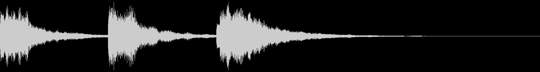 明るい 場面転換の未再生の波形
