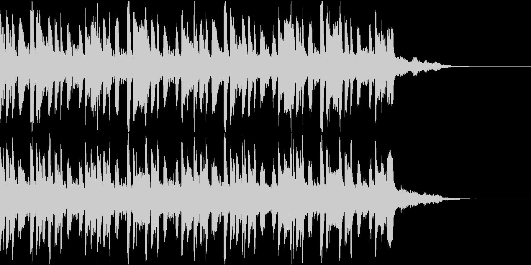 ニュース ラジオ テクノジングル2の未再生の波形