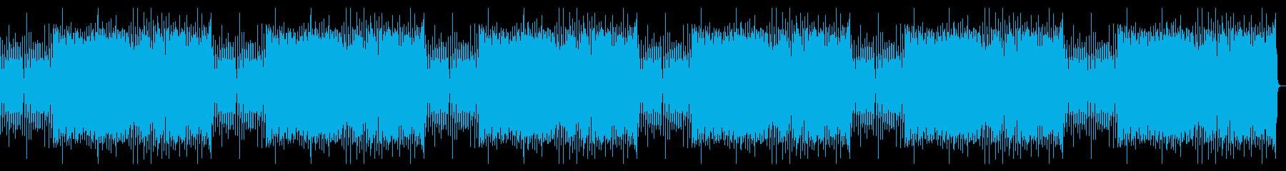 レトロゲーム風BGM(戦闘、緊迫)の再生済みの波形