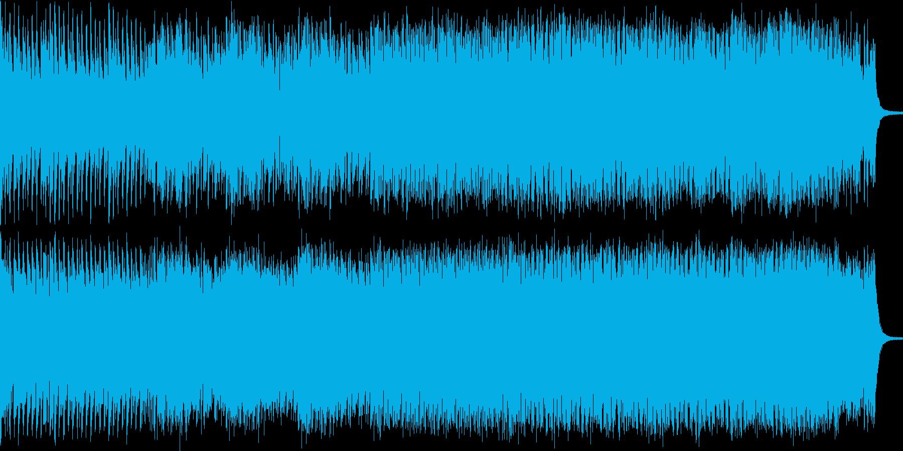 爽やかなエレクトロBGMの再生済みの波形
