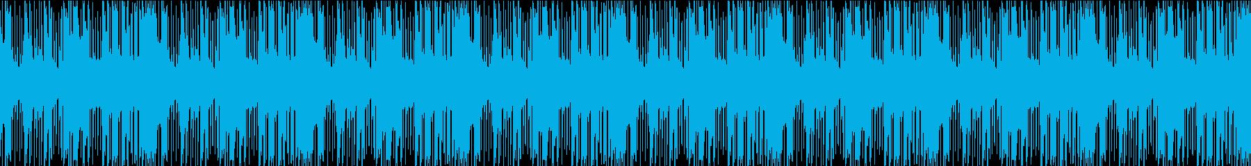 夜を感じる少し不気味なループ音源の再生済みの波形