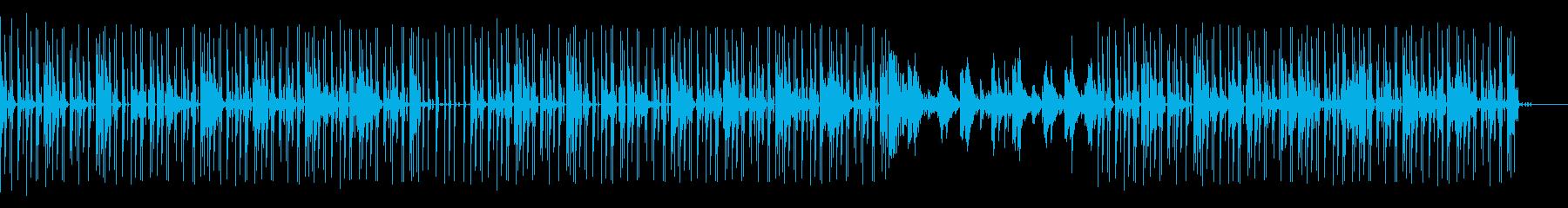 シンセとギターを使ったグリッチ風ポップの再生済みの波形