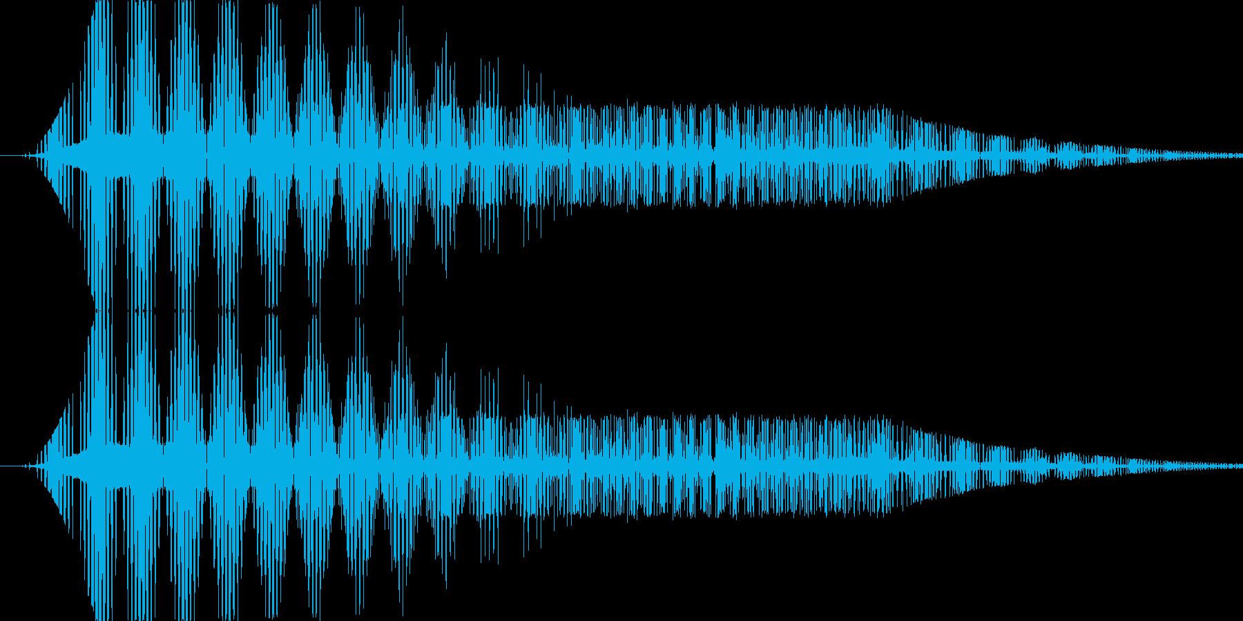 ボタン押下や決定音_ピッ!の再生済みの波形