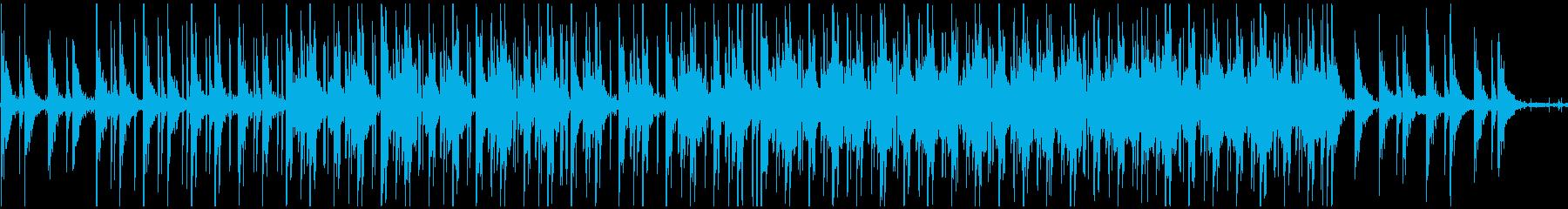 Lofi hiphop  留守電の音入りの再生済みの波形