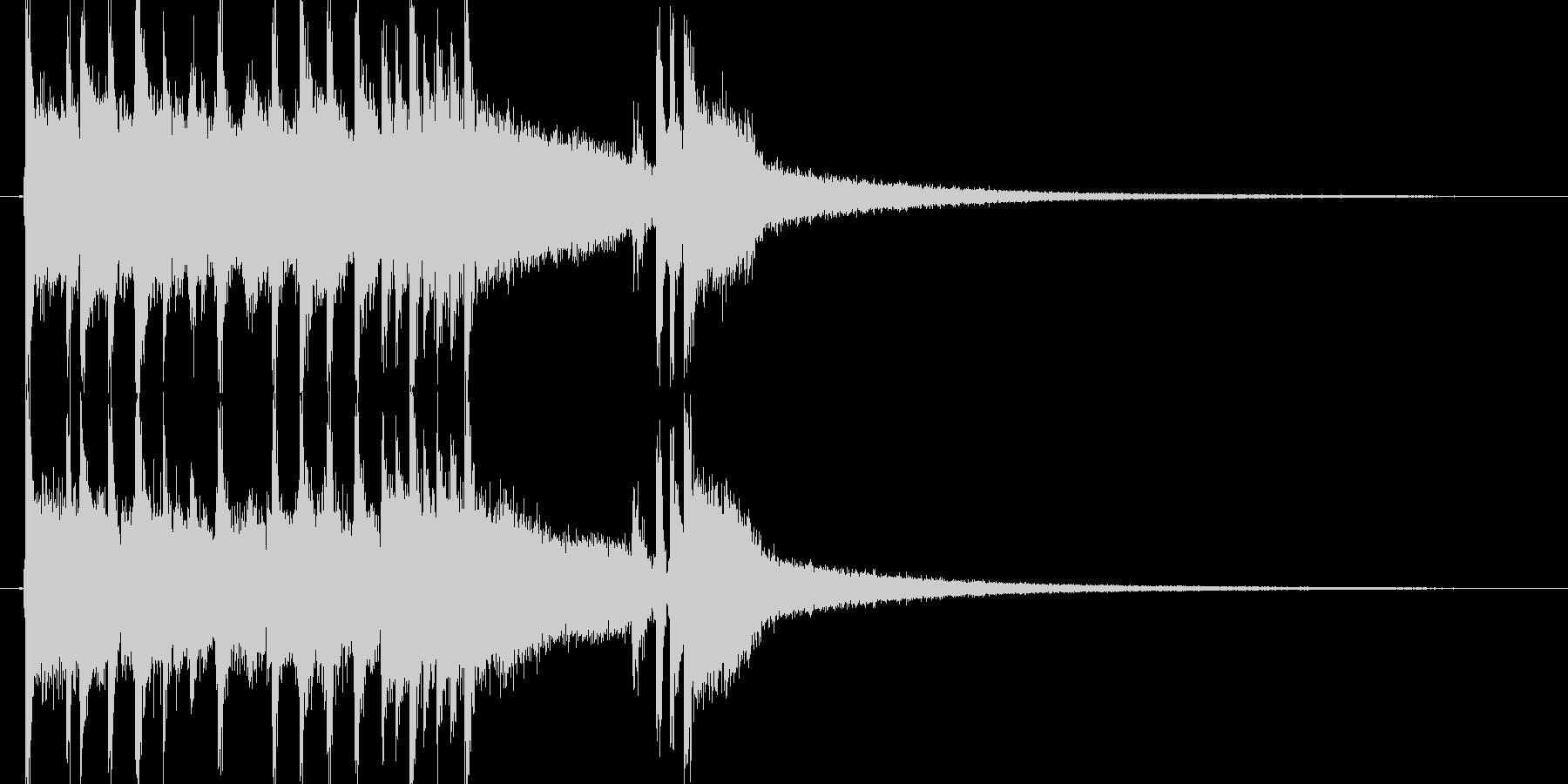 ロックファンクなジングルの未再生の波形