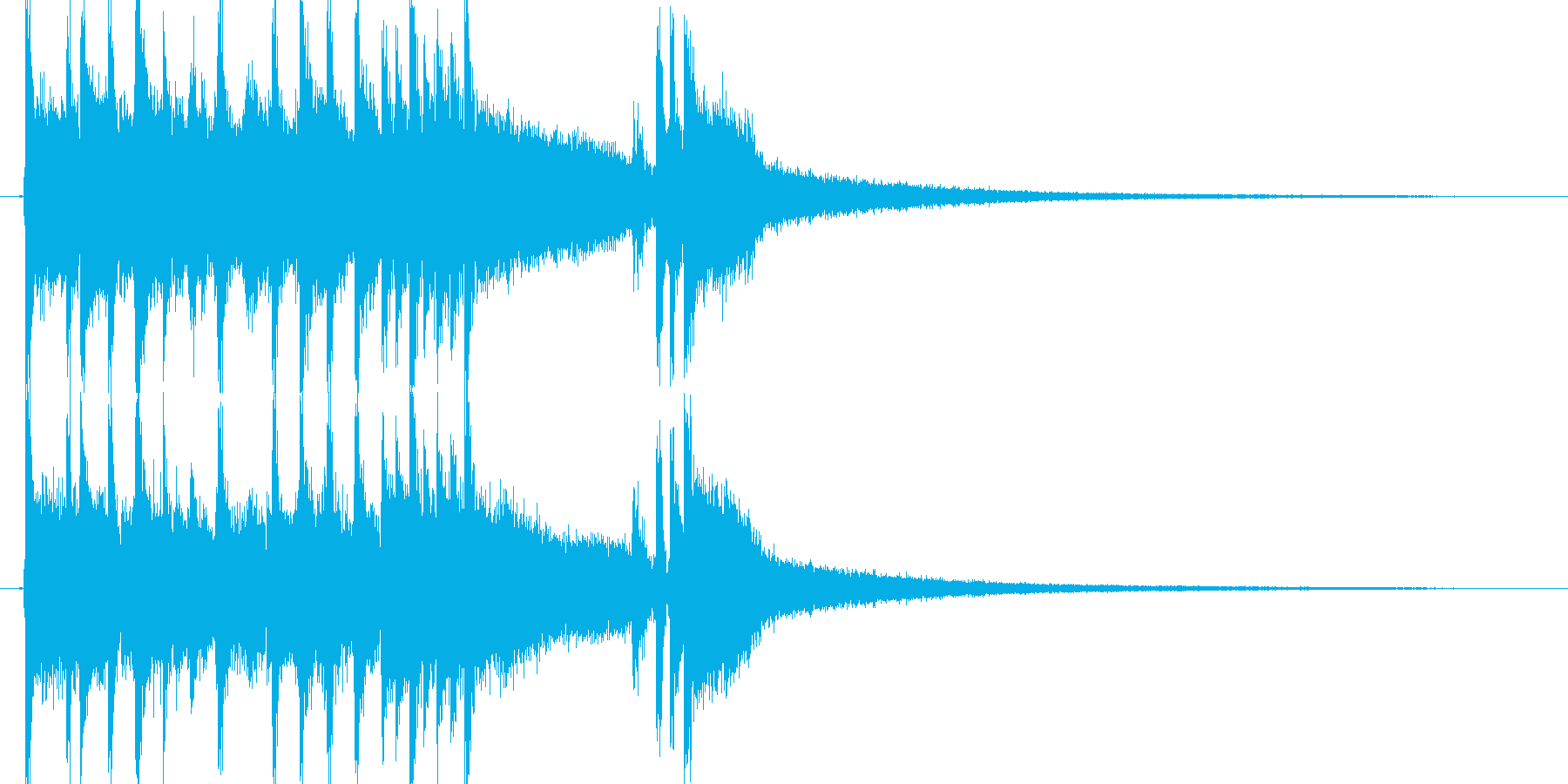 ロックファンクなジングルの再生済みの波形