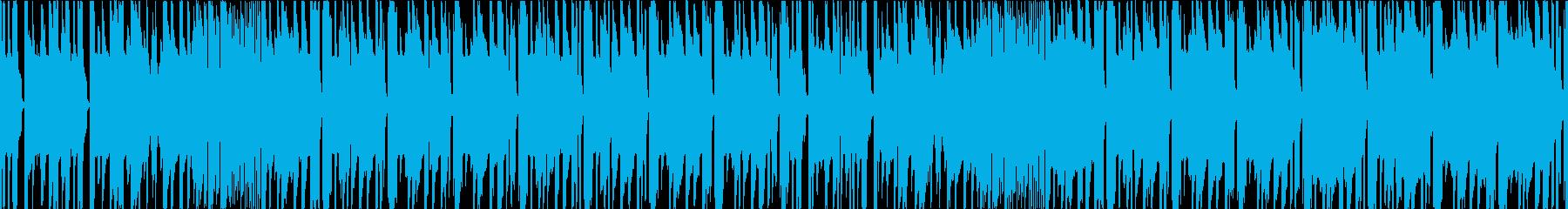 タイトなシンセと女声のミドルテンポEDMの再生済みの波形