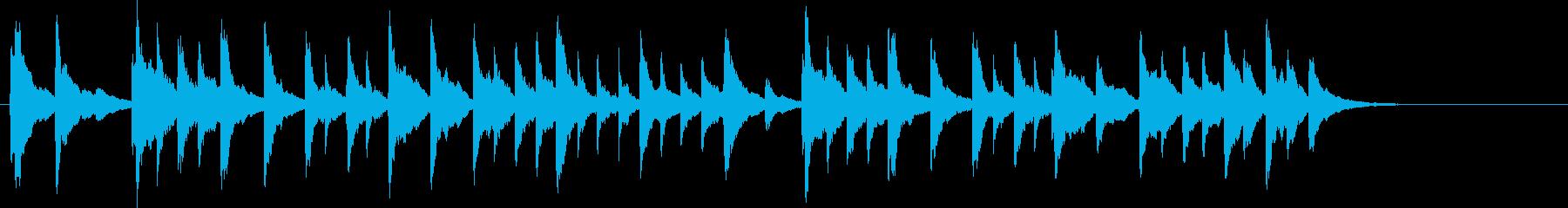 琴でのんびり「天国と地獄」(サビのみ)の再生済みの波形