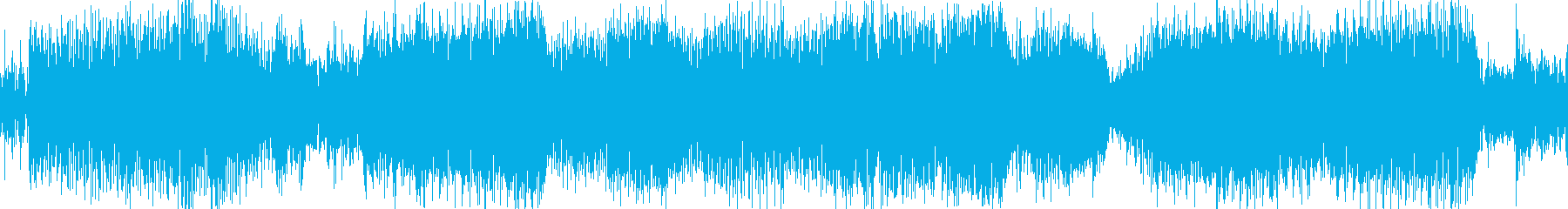 カオスでミステリアスなテクノ曲の再生済みの波形