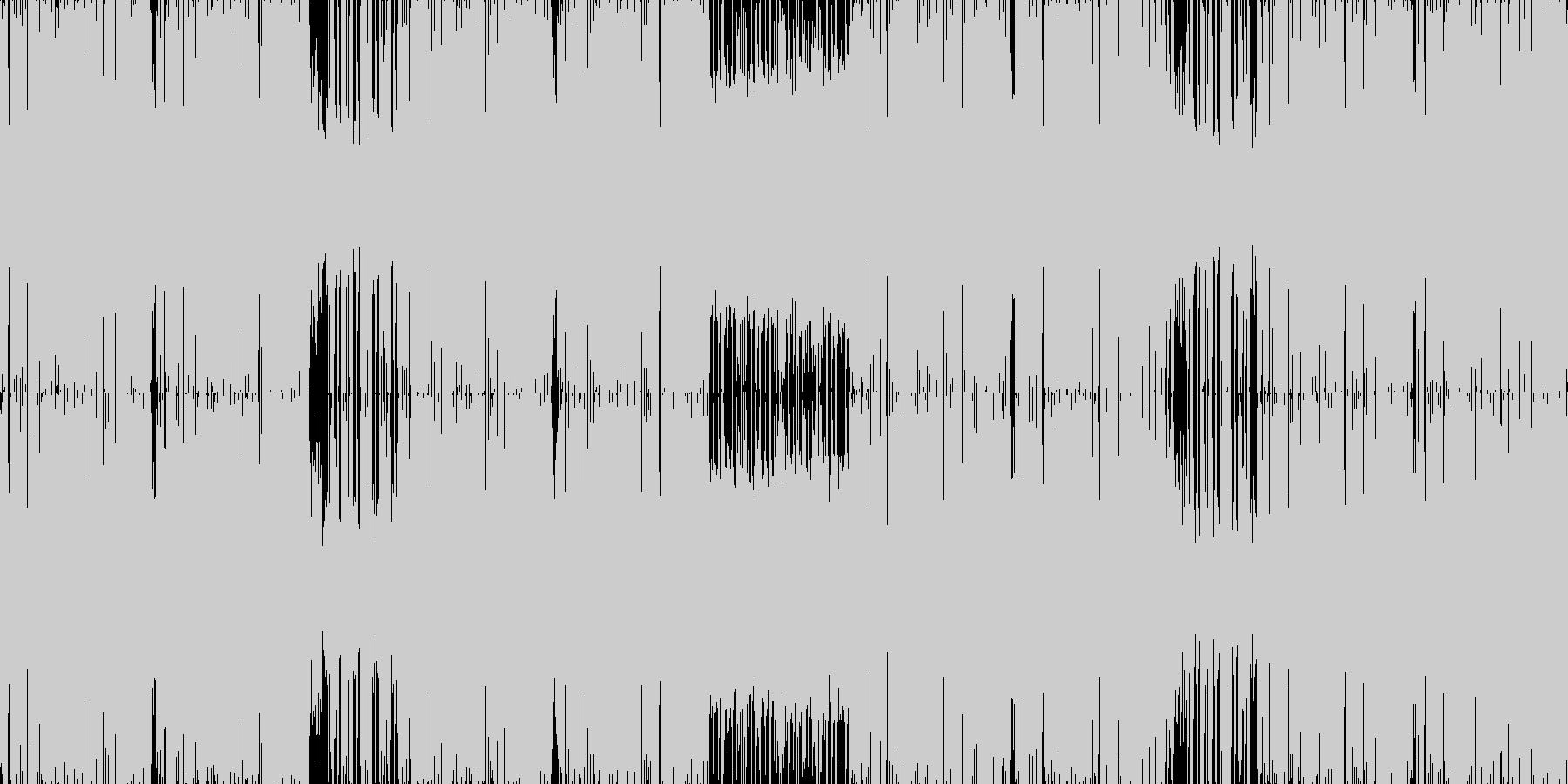 クレオフーガデイリー1位作品。ドラムン…の未再生の波形