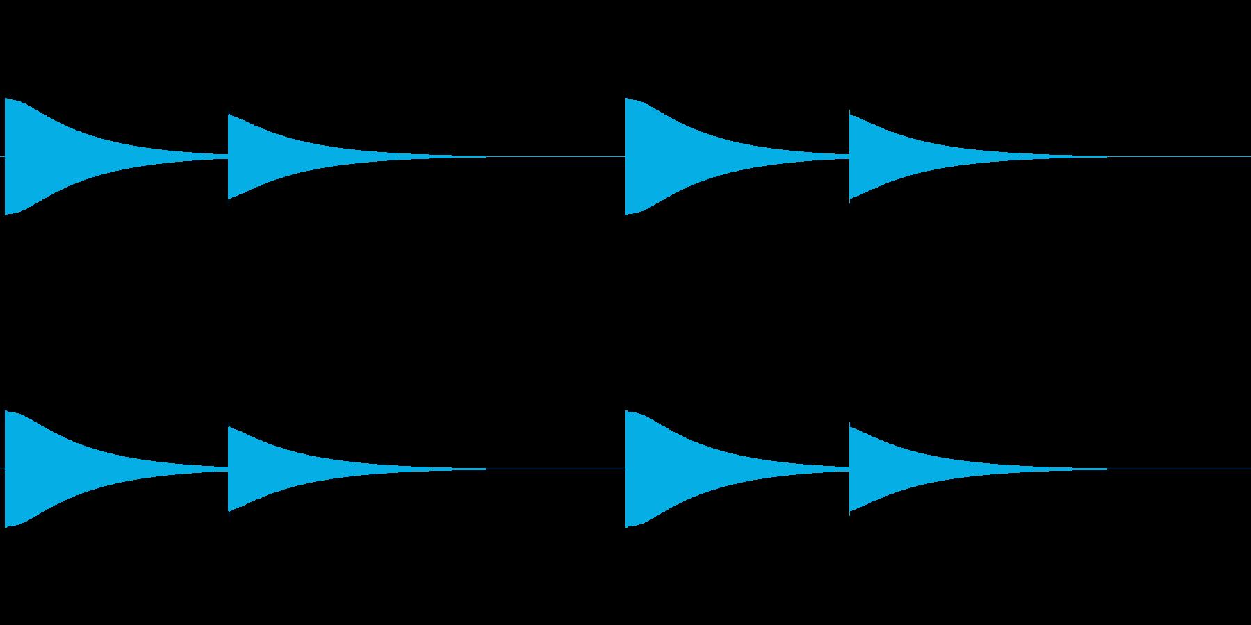 【改札 誘導音01-4L】の再生済みの波形