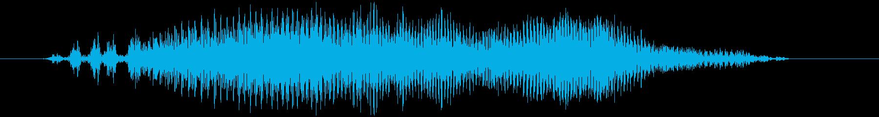 チャック、ジッパー(開閉音) ジィゥッの再生済みの波形