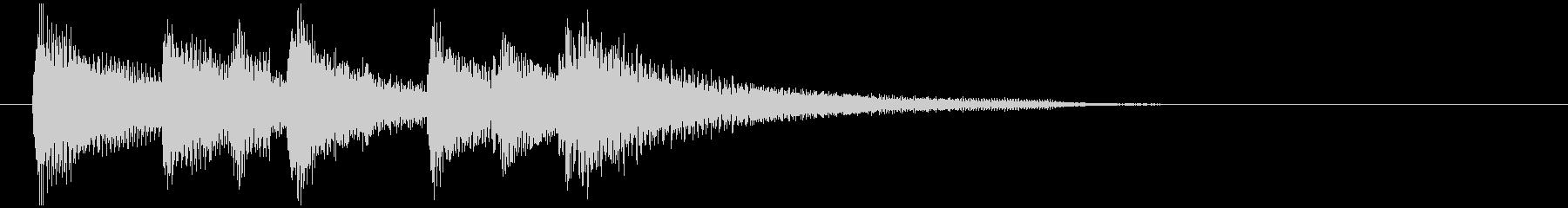 爽やかで晴れやかなウクレレのサウンドロゴの未再生の波形
