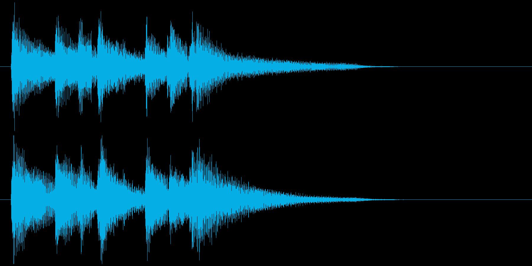 爽やかで晴れやかなウクレレのサウンドロゴの再生済みの波形