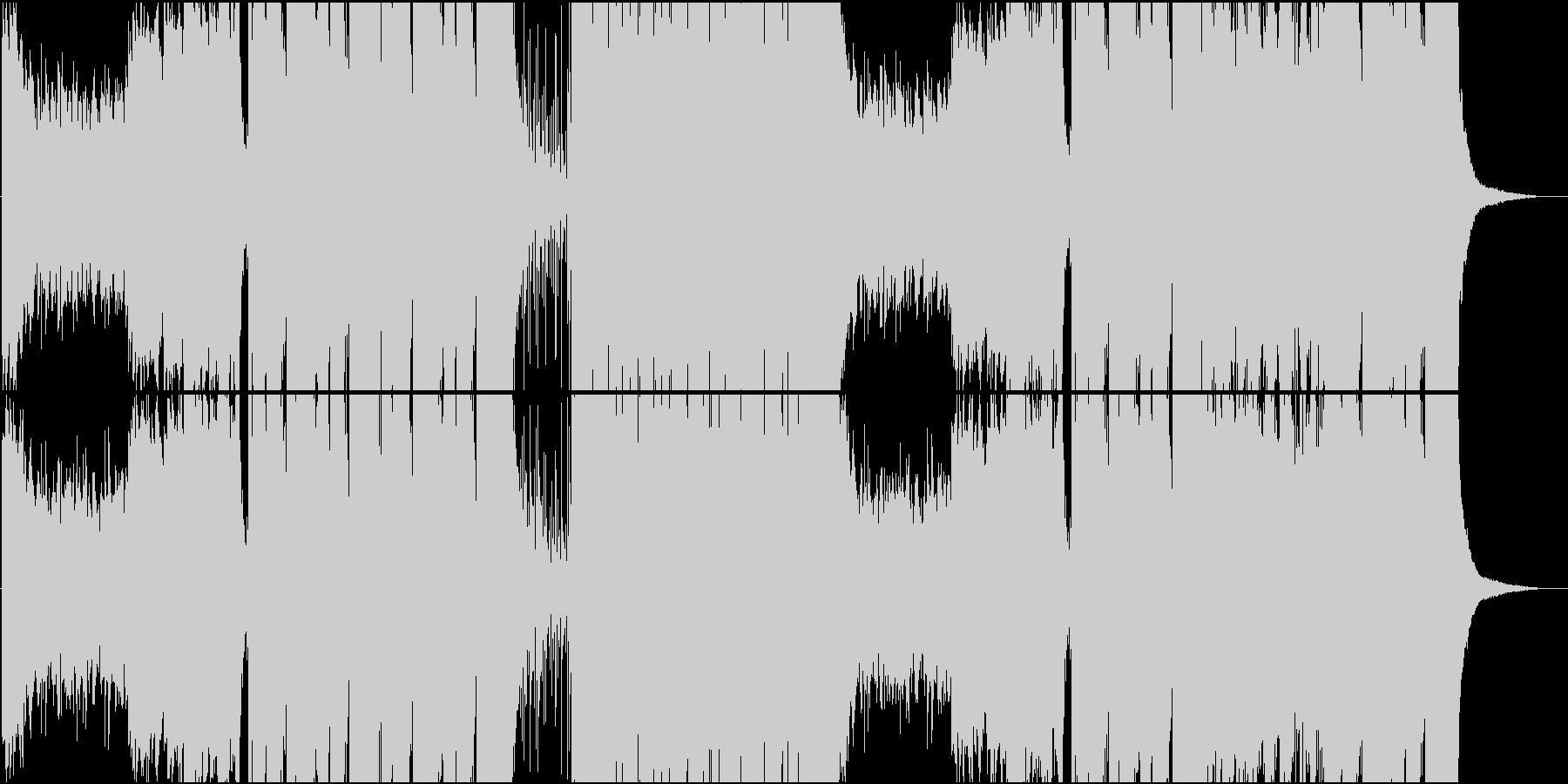 起伏の激しいFuture Bassの未再生の波形