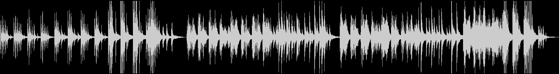 ピアノソロ:サビ1分41秒:癒し、光の未再生の波形
