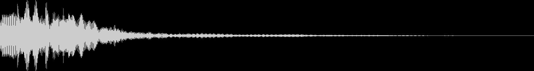 オーソドックスなセレクト音の未再生の波形