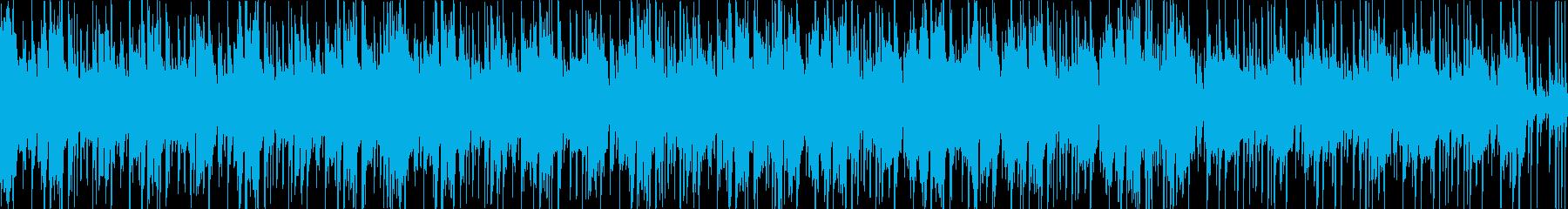 【1分】ダンス・アメコミ系ファンクBGMの再生済みの波形