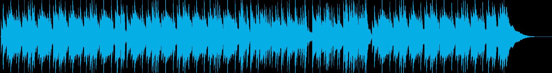 ギターとピアノの優しいアコースティック曲の再生済みの波形