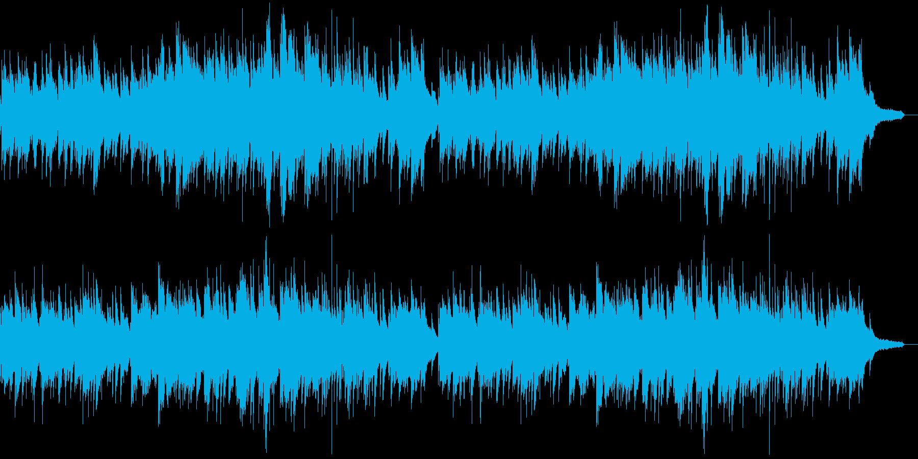 優しい心温まる ピアノソロの再生済みの波形