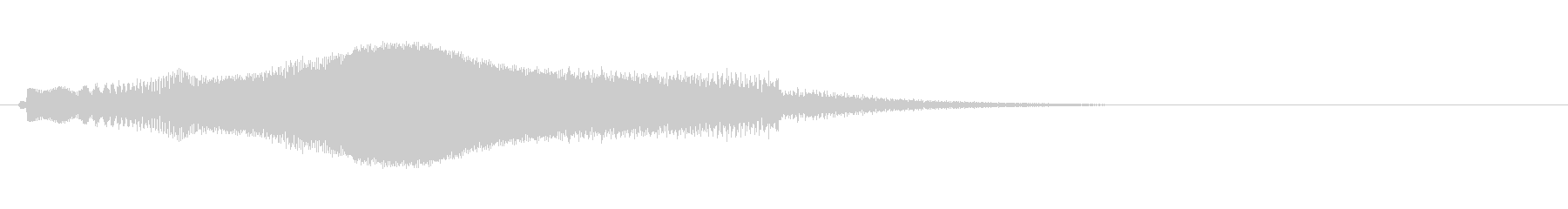 浮遊感のある起動音(SFなどに)の未再生の波形