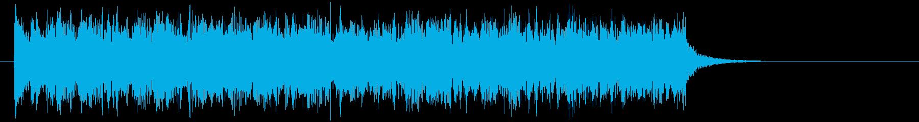 緩やかでメロディアスなシンセジングルの再生済みの波形