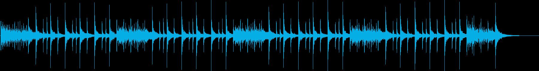 ドラム:ロックリズムの再生済みの波形