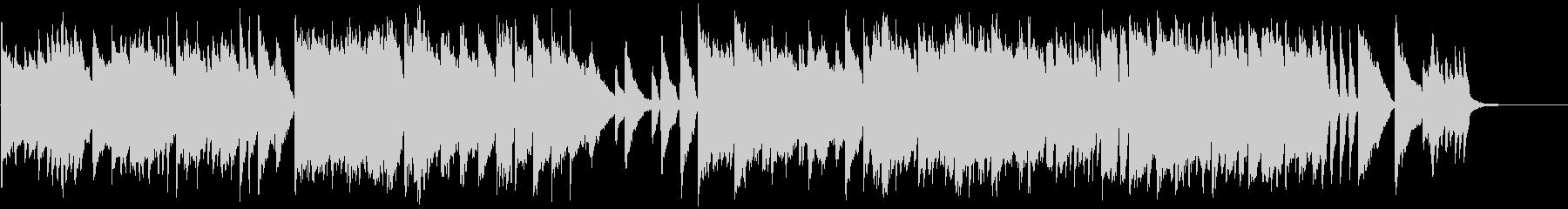 美しい和風ピアノの旋律とロックピアノの未再生の波形