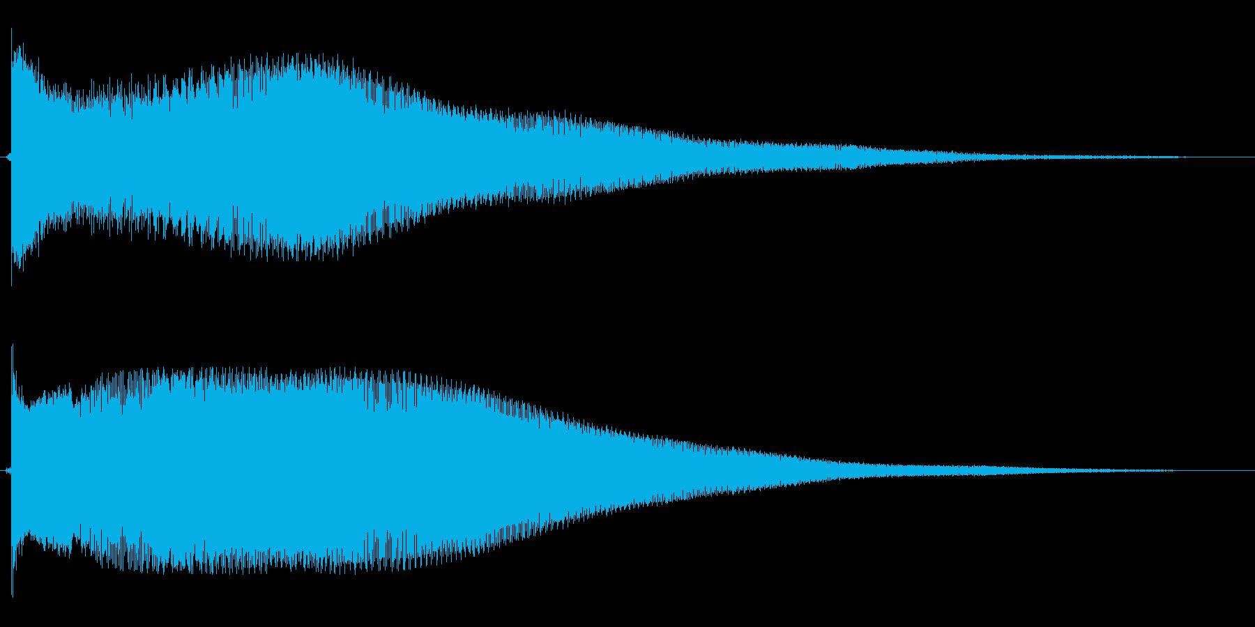 ピヨヨヨョ〜ン(残念な時の効果音)の再生済みの波形