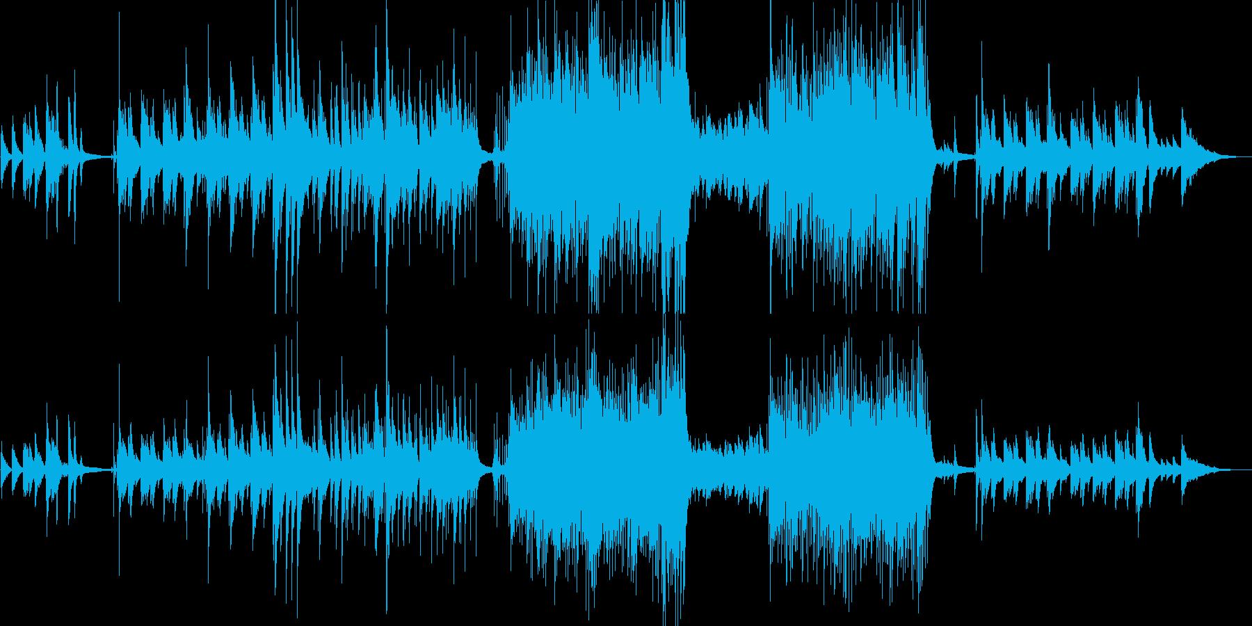 優しい雰囲気のJazzピアノ トリオ構成の再生済みの波形