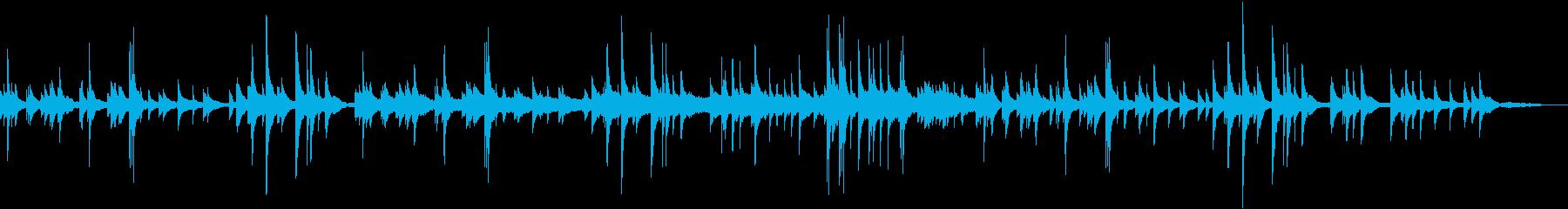 ケルティックハープのゆったりした優しい曲の再生済みの波形